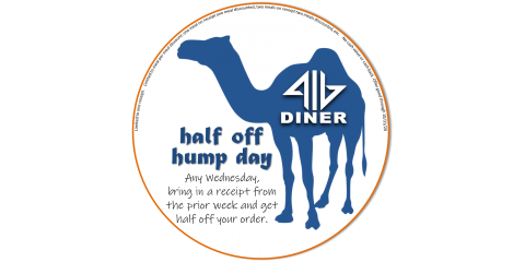 Introducing half off hump days at 416 Diner, Dayton, Ohio