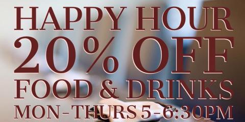 20 Off Food Drinks During Happy Hour Takumi Japanese