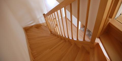 Carpeted Stairs With Hardwood Floor