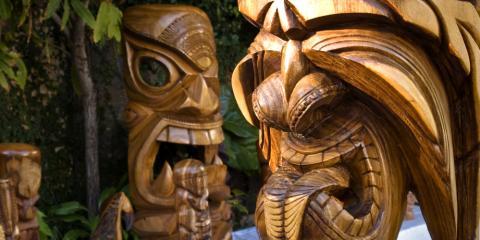 The Meaning Behind Tiki Statues, a Popular Hawaiian Themed Gift, Honolulu, Hawaii