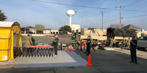 Fort Hood Soldiers Train for Nuclear Decontamination on Coryell Health Campus , Gatesville, Texas