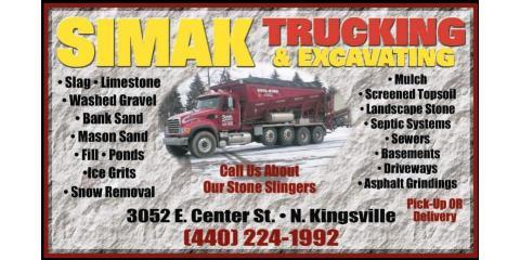 Simak Trucking & Excavating, Inc, Excavation Contractors, Services, Conneaut, Ohio