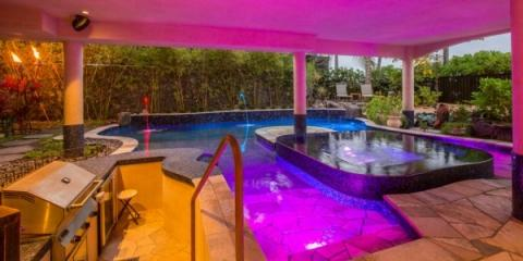 How Lighting Transforms Swimming Pools Into Beautiful Spectacles, Kailua, Hawaii