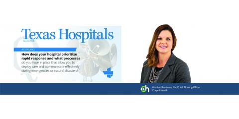 Coryell Health Chief Nursing Officer Highlighted in Texas Hospital Association Magazine, Gatesville, Texas