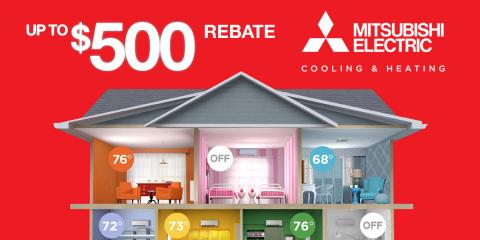 Save Up to $500 on a Mitsubishi Electric® Cooling & Heating , Exeter, New Hampshire