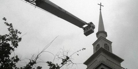 High Point's Leading Crane Service Company Offers Church Steeple Cleaning & More, High Point, North Carolina