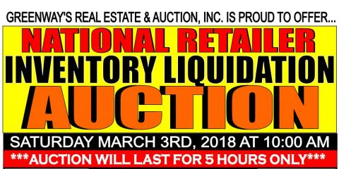 National Retailer Inventory Liquidation Auction, Covington, Virginia