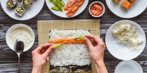 4 Types of Maki Sushi, Hilo, Hawaii