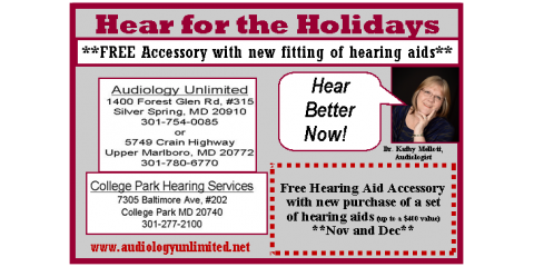 Hearing Help for the Holidays, Marlboro, Maryland