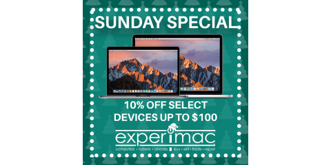 Experimac Huntersville Sunday Sale on Apple Devices, Huntersville, North Carolina