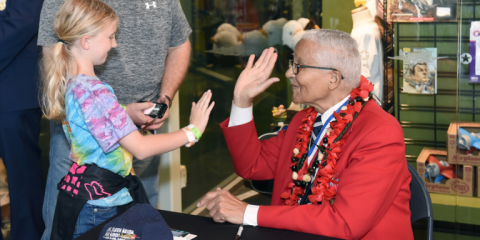 Students Meet Tuskegee Airman at Pacific Aviation Museum Pearl Harbor, Ewa, Hawaii