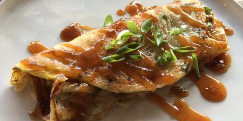 Egghead Café Welcomes the Green Onion Pancake!, Honolulu, Hawaii