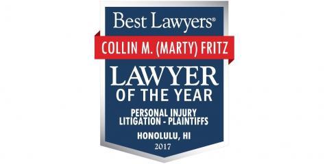 Marty Fritz: Personal Injury Lawyer of the Year, Honolulu, Hawaii