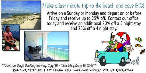 Last Minute Summer Savings!, Gulf Shores, Alabama