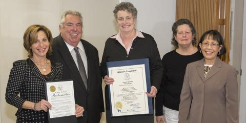Hughes Health & Rehabilitation honored by West Hartford mayor, Connecticut senator, West Hartford, Connecticut