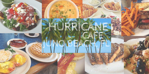 November Deal $5.00 OFF $20.00 or more at the Hurricane Cafe, Juno Beach, Florida