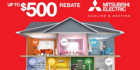 Get Up to $500 Off Mitsubishi® HVAC System Installation, East Hampton, New York