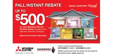 Save Up to $500 on Mitsubishi® Electric HVAC Systems, Stamford, Connecticut