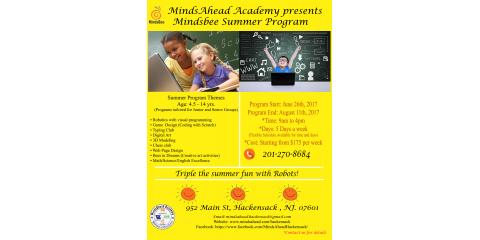 MIndsbee Summer Program!!, Hackensack, New Jersey