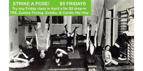 $5 Fitness Fridays: April at VLD , Manchester, New Hampshire