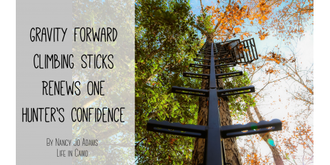 Hurricane Safety System Gravity Forward Climbing Sticks Renews One Hunter's Confidence , Garfield, Michigan