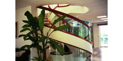 Custom Curved Glass Stairway Installed by Island Glass And Mirror, Lihue, Hawaii