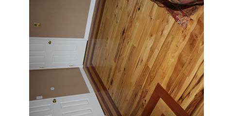 hickory floor with cherry border floors like glass wawayanda