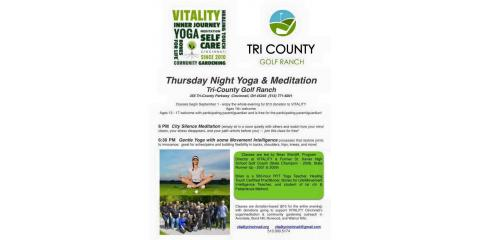 Thursday Night Yoga & Meditation, Springdale, Ohio