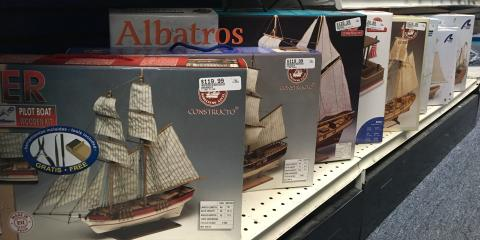 New Wooden Ship Models In Stock, Tampa, Florida
