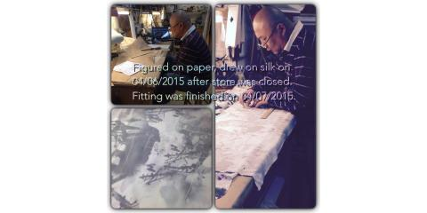 Wo is making a silk long coat, New York, New York