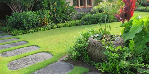 Typical Features in a Balinese Garden Design, Kailua, Hawaii