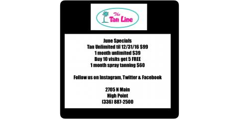 The Tan Line June Specials!, High Point, North Carolina