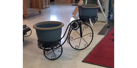 Tricycle Planters - Get 'Em While They're Hot!!, Park Falls, Wisconsin