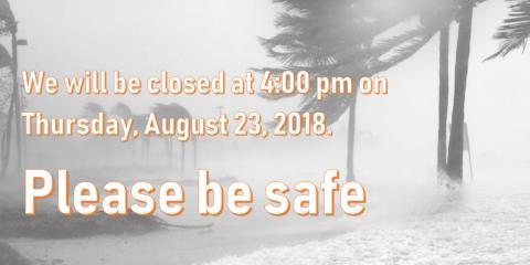 8/23/18 - Closing at 4:00 pm, Wahiawa, Hawaii
