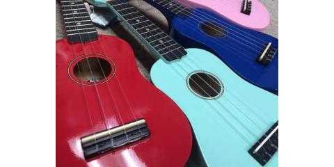 A Rainbow of Ukuleles to Choose From, Fairborn, Ohio