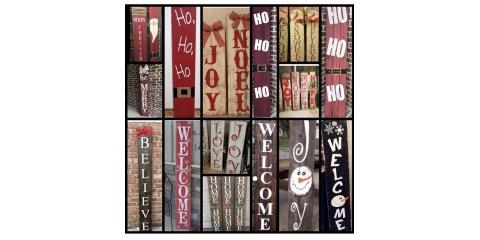 Holiday Front Door Wooden Signs!, Keller, Texas