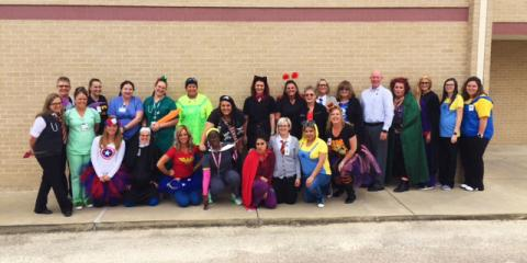 Coryell Medical Clinic Dressed Up for Halloween, Gatesville, Texas