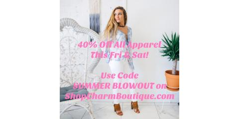 40% Off All Apparel!, Gulf Shores, Alabama