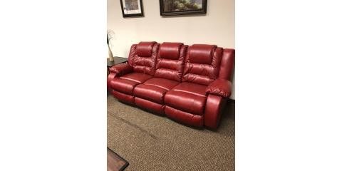 Red Leather Reclining Sofa and Loveseat, ,