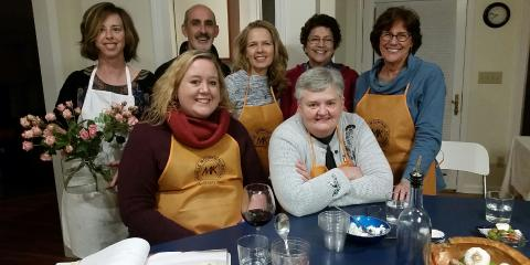 Greek cooking class, Asheville, North Carolina