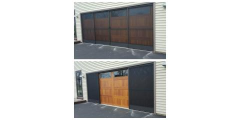 Sliding Garage Screens installed by Tracey Door in Rochester, NY, Rochester, New York
