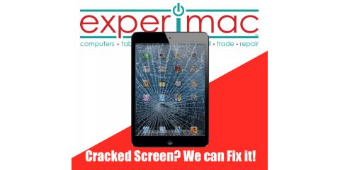 Cracked iPad® Screen? Get it Repaired at your local Experimac of Greenville., Greenville, North Carolina
