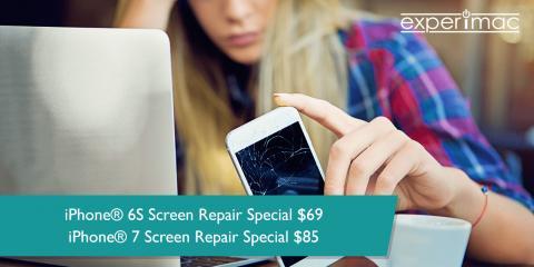 iPhone® 6S Screen Repair $69 & iPhone® 7 Screen Repair $85, King of Prussia, Pennsylvania