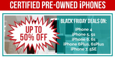 Trade-Up with a Certified Pre-Owned iPhone...Up To 50% OFF, Northwest Harris, Texas