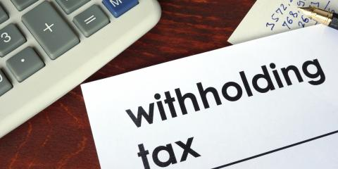 It's Never Too Early to Check Tax Withholding, Greensboro, North Carolina
