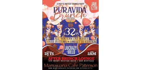 PURA VIDA BRUNCH PARTY- JAN 12th - MAMAJUANA CAFE PATERSON , Paterson, New Jersey