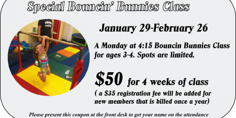 App Exclusive Bouncin Bunnies Class, Greece, New York
