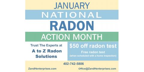 $50 off Radon Test, Lincoln, Nebraska