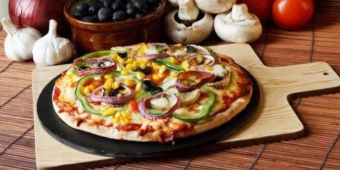 Eating Healthy at a Pizza Restaurant, Southwest San Gabriel Valley, California