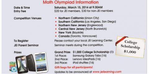 Sign Your Child Up For JEI Learning Centers' Math Olympiad on March